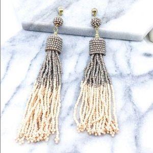 Christine Beaded EarringsTaupe/Pink